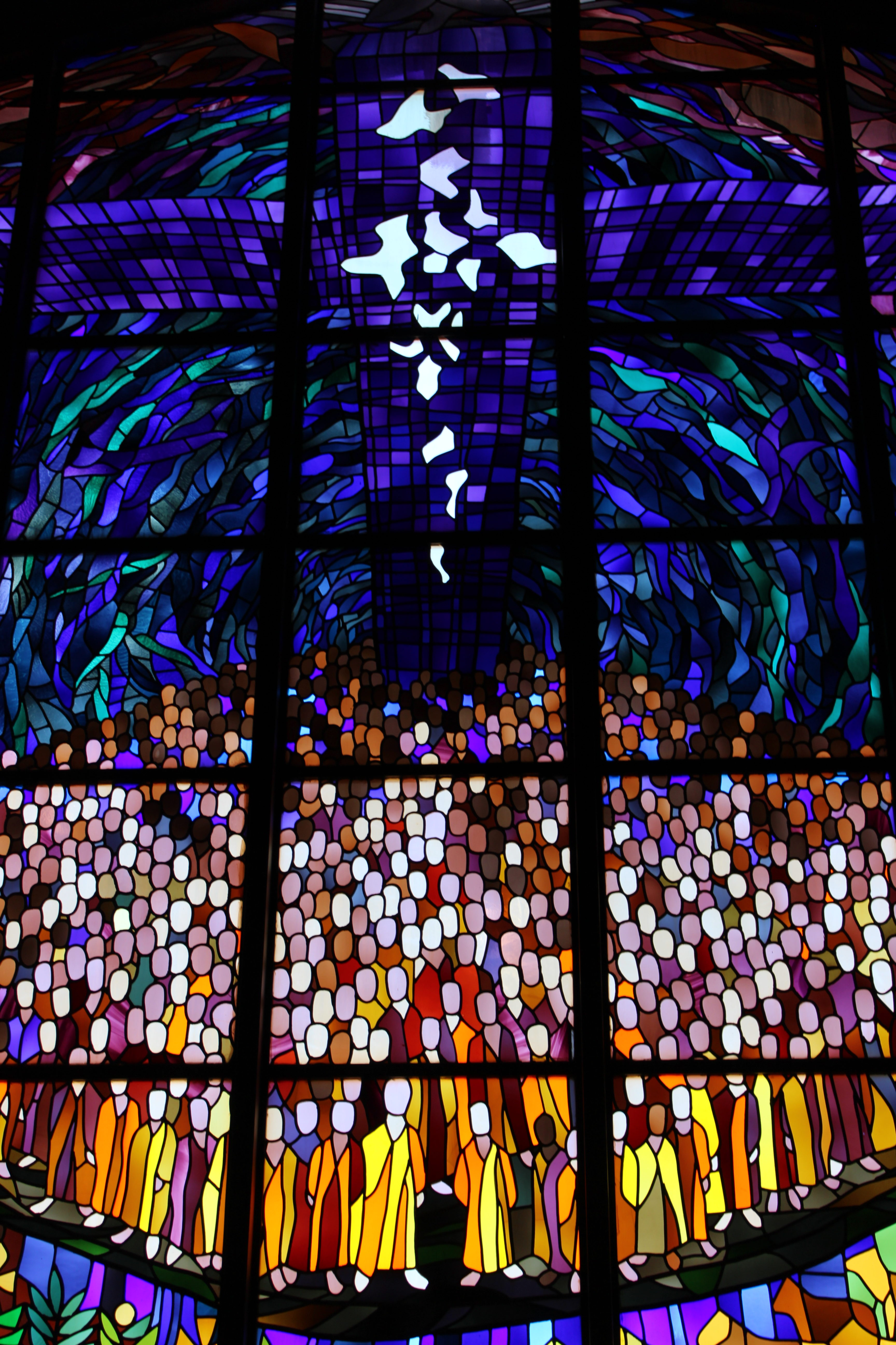 stain glass window at bible church