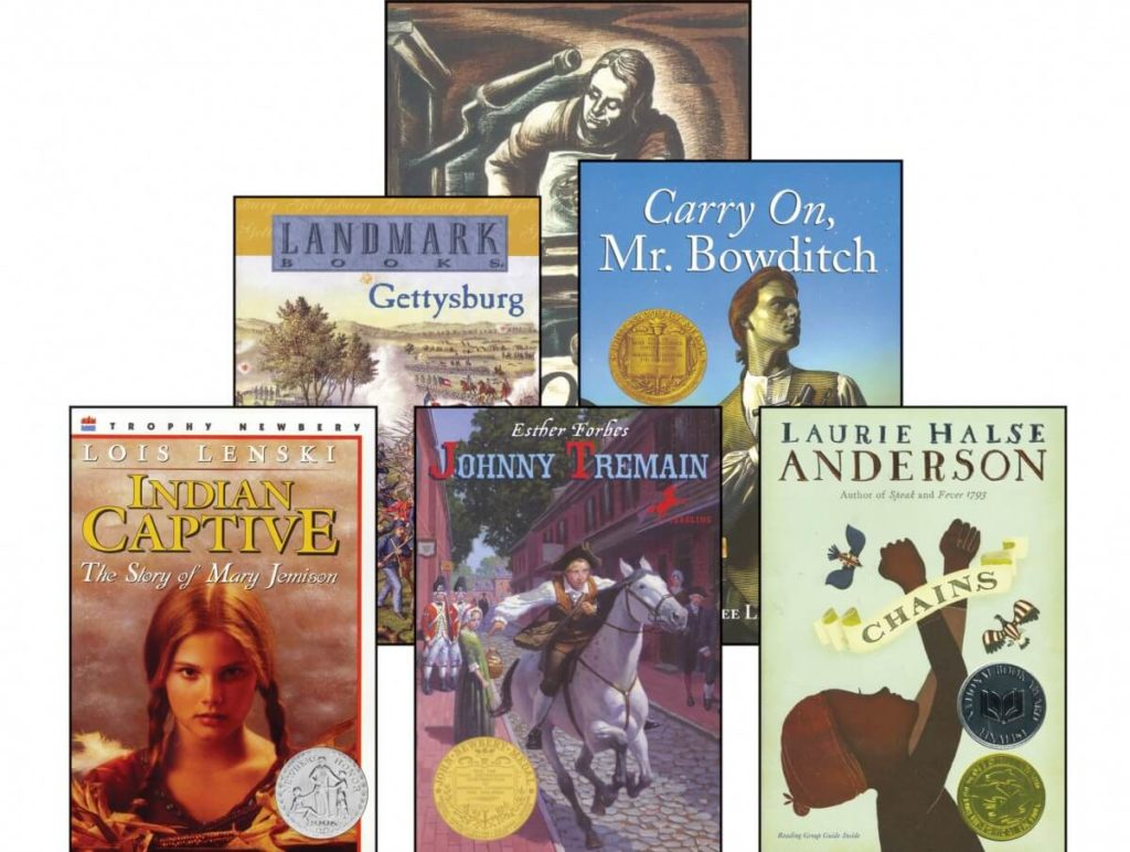 6th grade american studies novels literature books