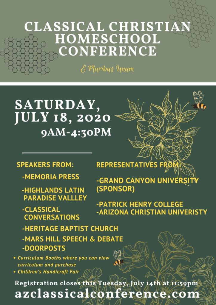arizona classical curriculum conference